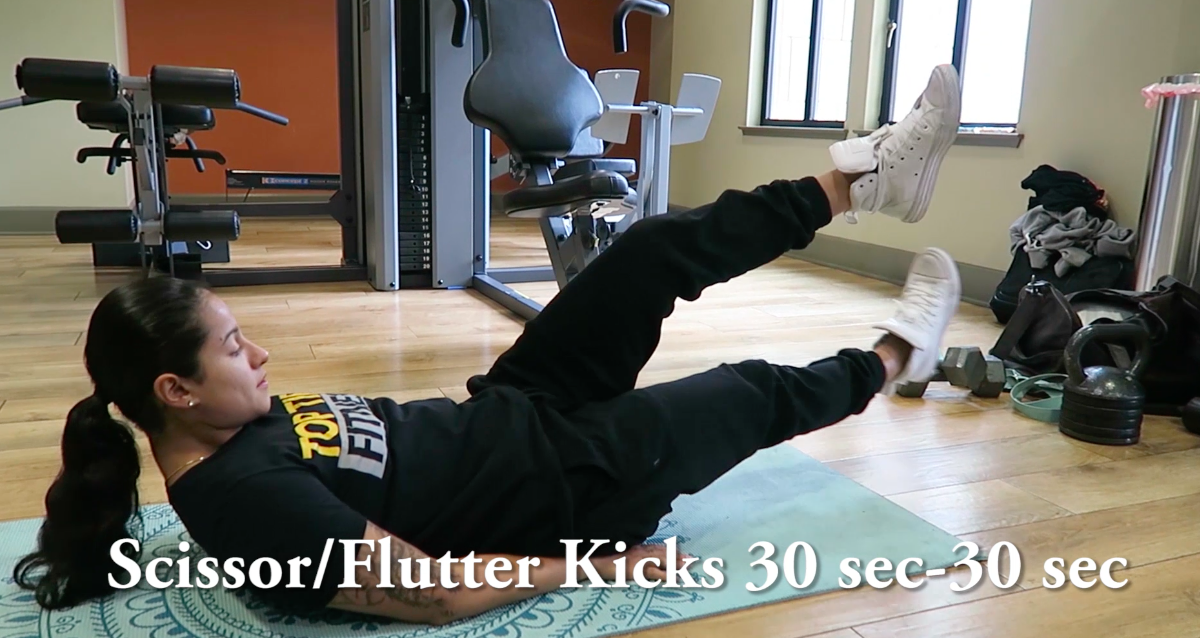 personal trainer flutter kicks