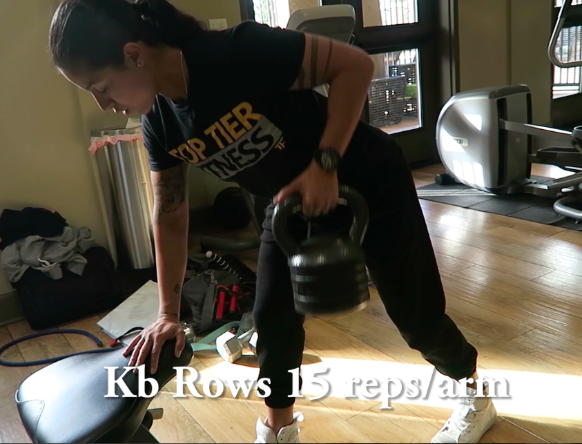 kettlebell in home personal training
