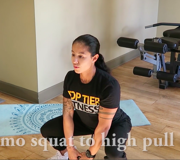 personal training sumo squat to high pull