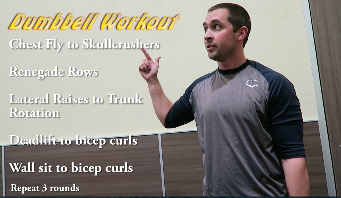 Personal Trainer Baron showing you a dumbbell circuit in walnut creek
