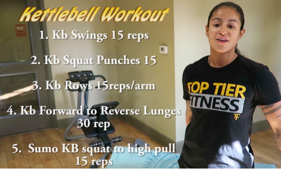 Personal Trainer Jessic showing Kettlebell Circuit san francisco