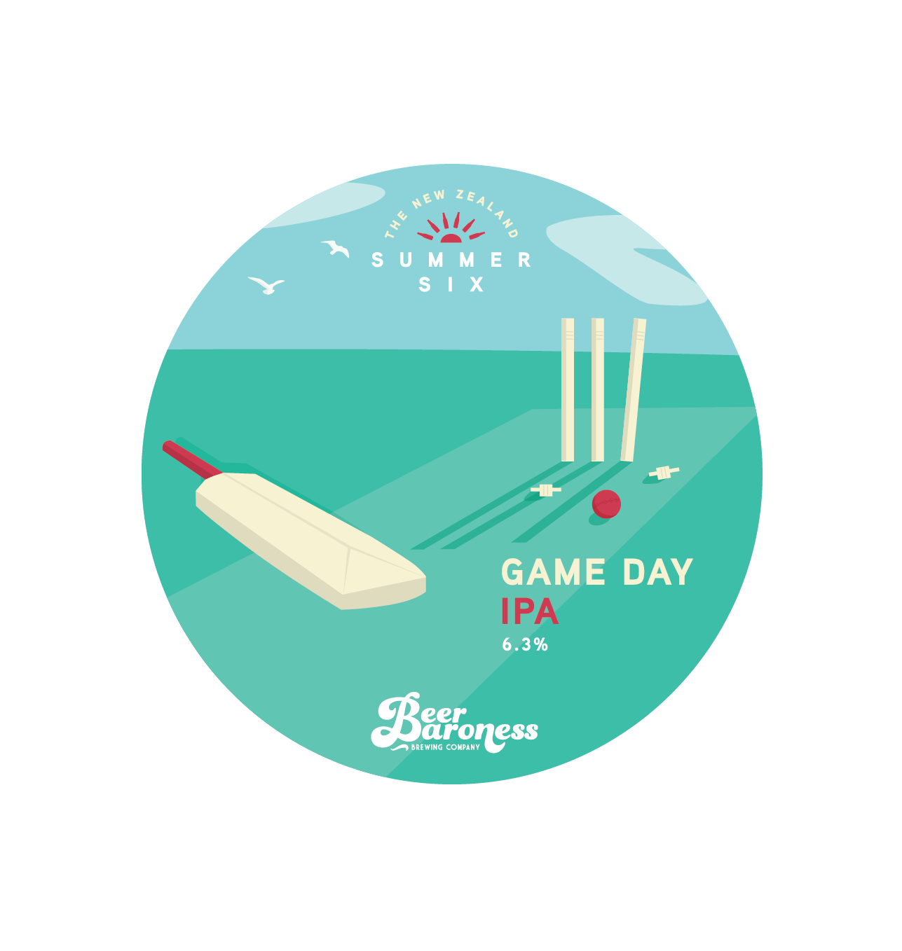 Beer Baroness Summer Six - Game Day IPA - Tap Badge.png