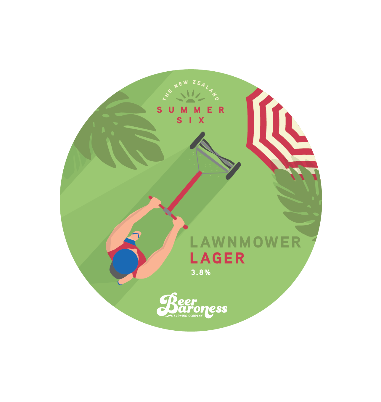 Beer Baroness Summer Six - Lawnmower Lager - Tap Badge.png