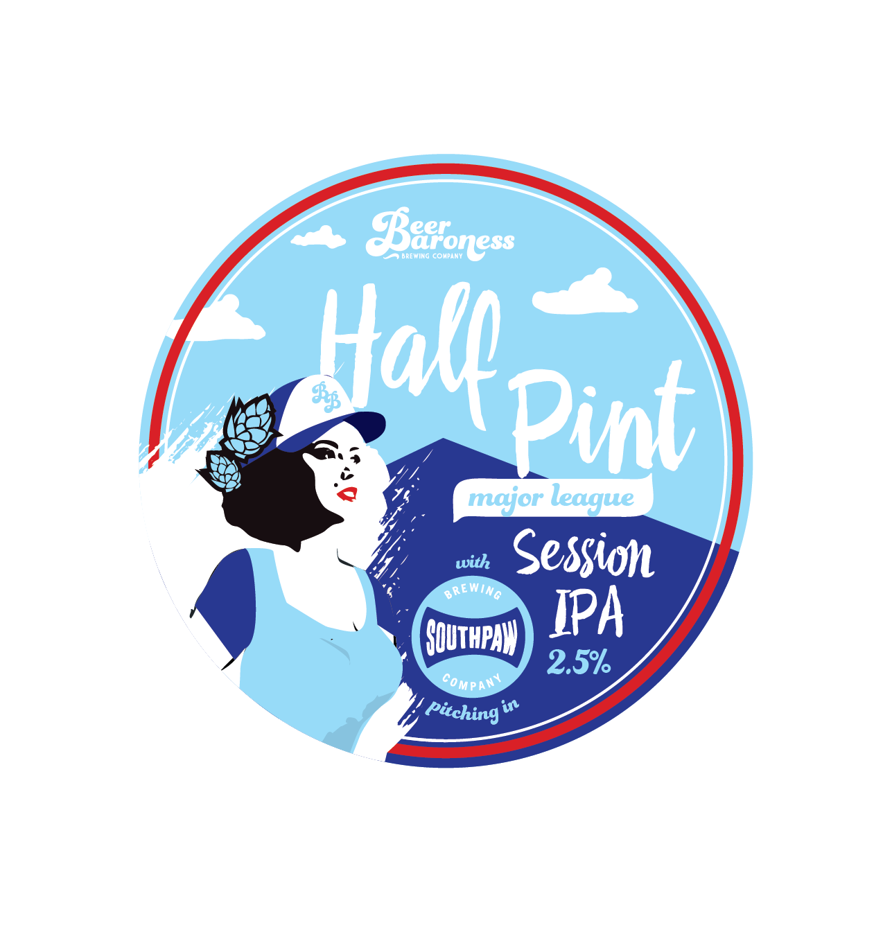 DD003882 Beer Baroness Half Pint Tap Badge Supply Cropped.png