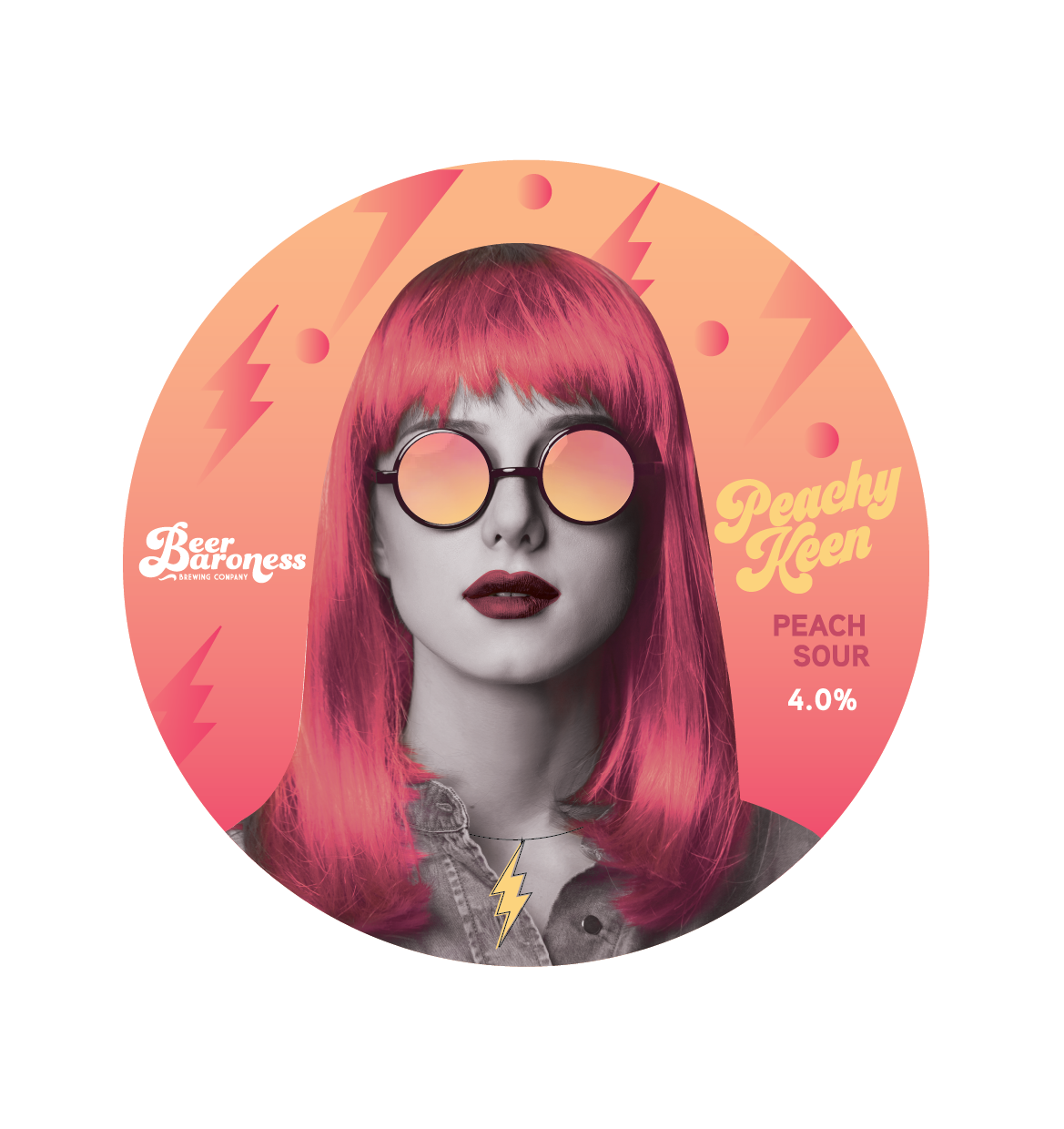 DD004462 Beer Baroness SS Peachy Keen Tap Badge Supply T2P.png