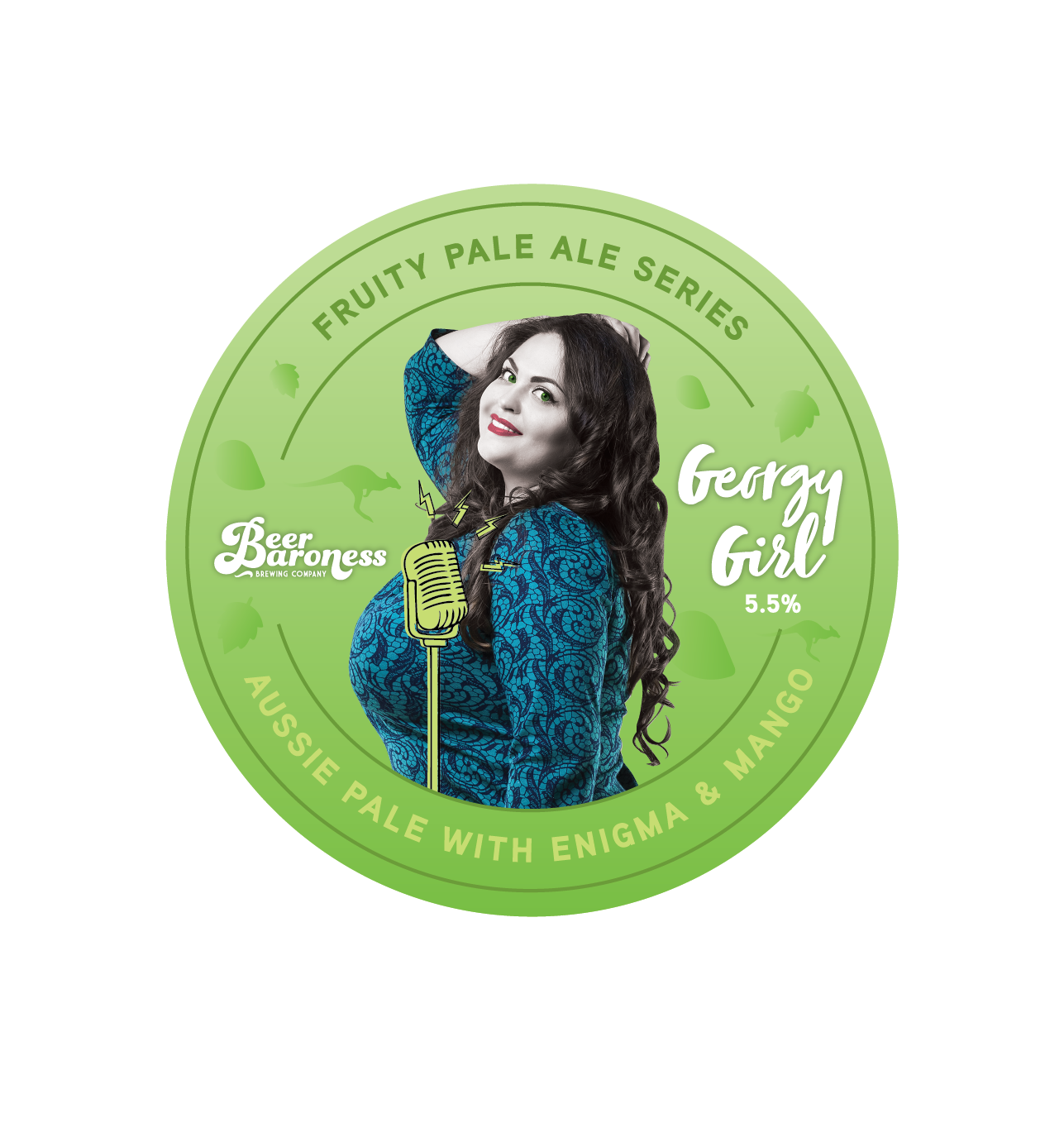 DD004554 Beer Baroness - Fruited Pale Ale Series Tap Badges Supply - Georgy Girl.png