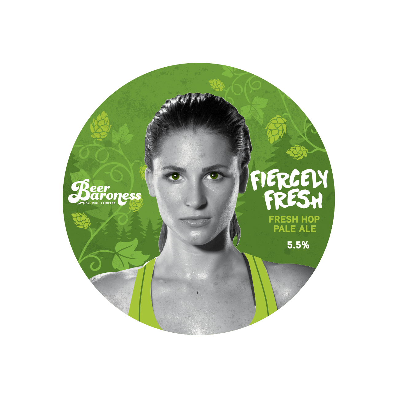 DD004735 Beer Baroness Fresh Hop Tap Badge - Fiercely Fresh Supply T2P.- Clipped.png