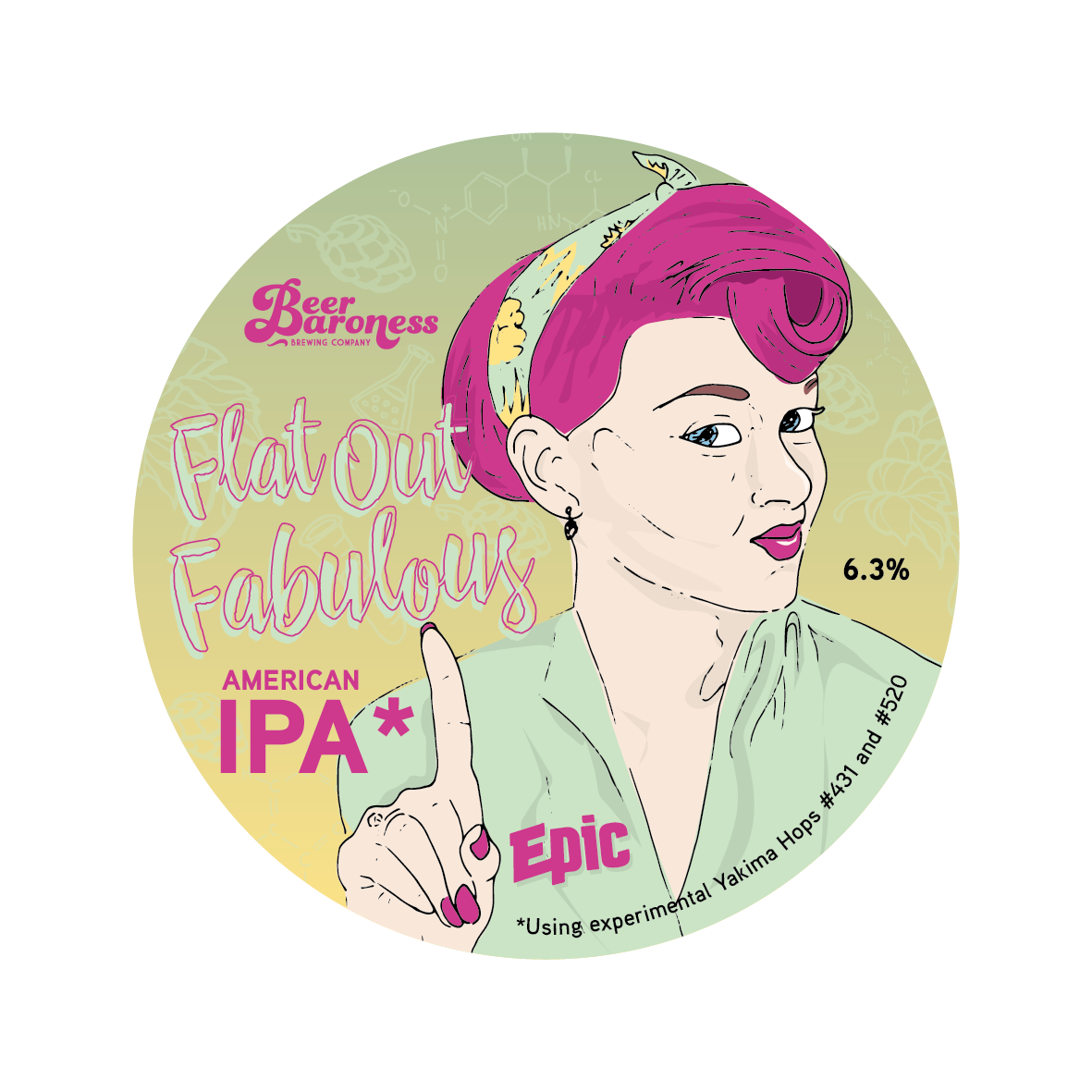 DD004974 Beer Baroness Flat Out Fabulous Tap Badge Supply 2.png
