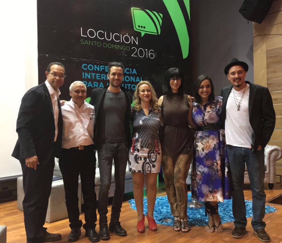 De izquierda a derecha: Reynaldo Infante, Manny Herrera, Alfonso Lugo, Emma Rodero, Simone Fojgiel, Angely Baez y Antonio Fornaris