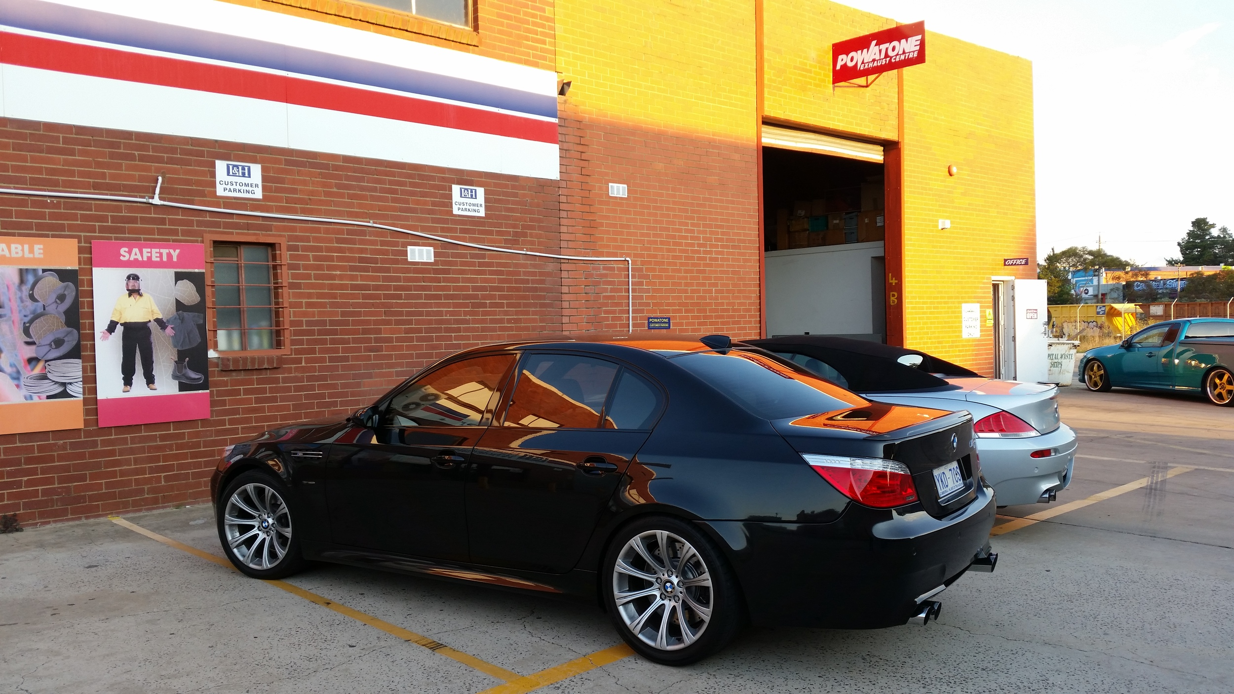 Powatone exhaust centre, custom exhaust canberra, BMW M5, M6 V10.jpg