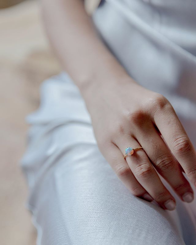 Fade to black believes in effortless fine jewelry. Pieces that can be kept forever and still feel elevated and timeless. P.s — only two more shift rings with large opals in stock!