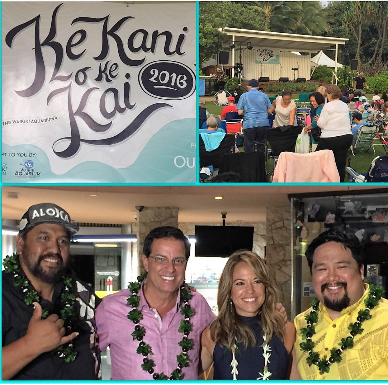 A great start the Waikiki Aquarium's Summer Concert Series with Kawika Kahialp, Ben & Maila and Chad Takatsugi!