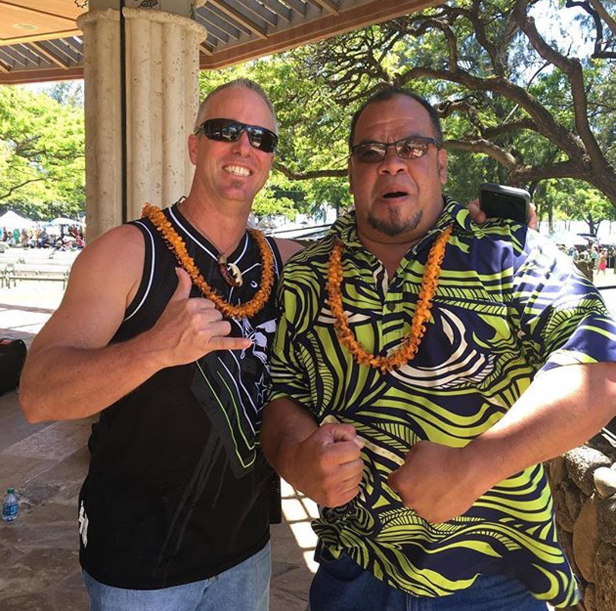 King Kamehameha Celebration with Bobby and Kahi (2/3) of Maunalua...where's Richard?