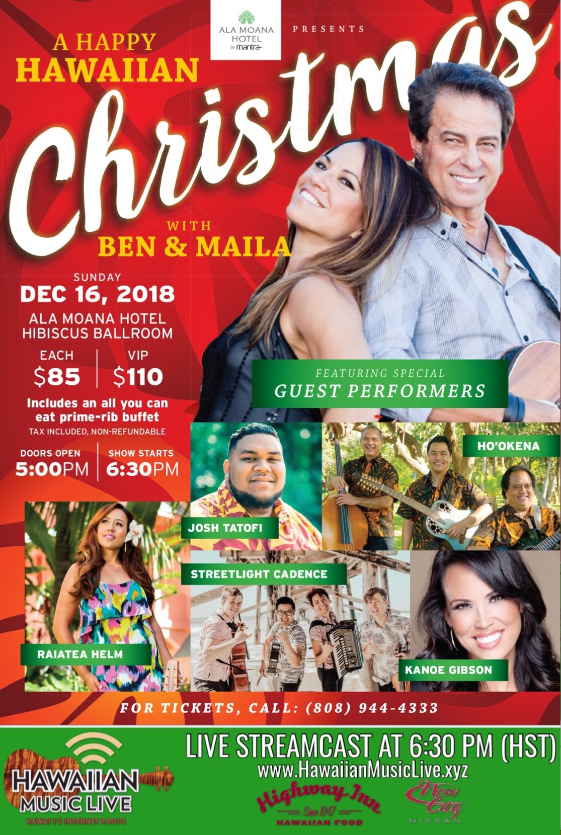 Christmas In Hawaii Movie.5th Annual A Happy Hawaiian Christmas With Ben Maila