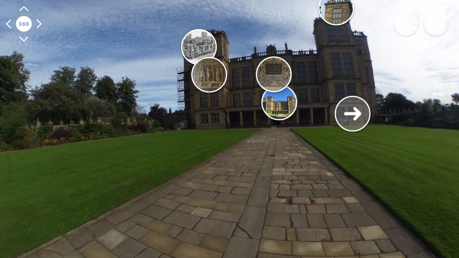 Video still from the Hardwick Hall Virtual Tour
