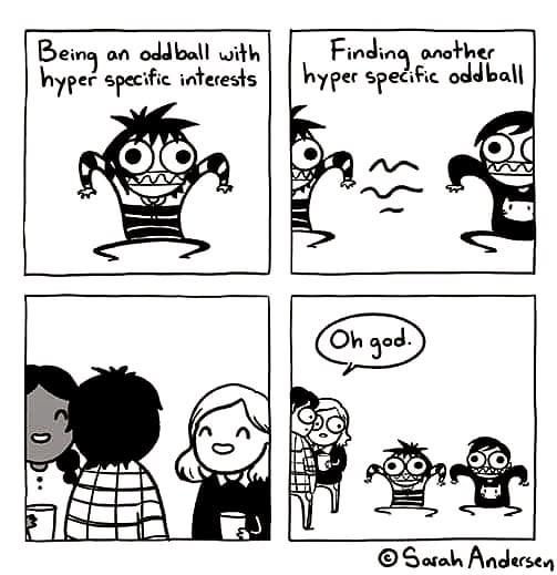 What it's like being a member of an improv group. ... ... .. .. . . #improvcomedy #improv #melbournecomedy #cartoon #weirdo #friends