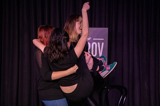 We're back tomorrow night to create more hilarious chaos for you! 💕 7pm at The Improv Conspiracy 🎟 Just look at these adorable pics from last month's show by @simculloch!! Ticket link in bio or buy 'em on the door 🎟🧂