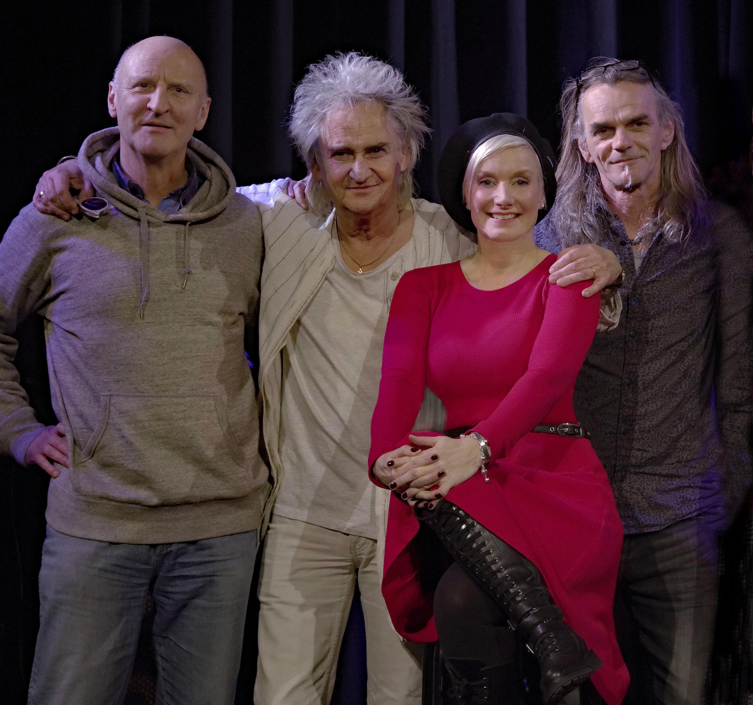 Pictured Left to Right: Volker Griepenstroh (Keys), Mickie Stickdorn (Drums), Floy (Vocals), Ritchie Kück-Michelmann (Guitar)