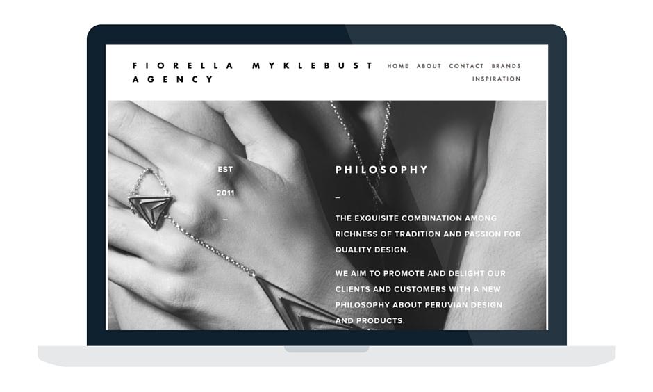 Fiorella Myklebust Agency website