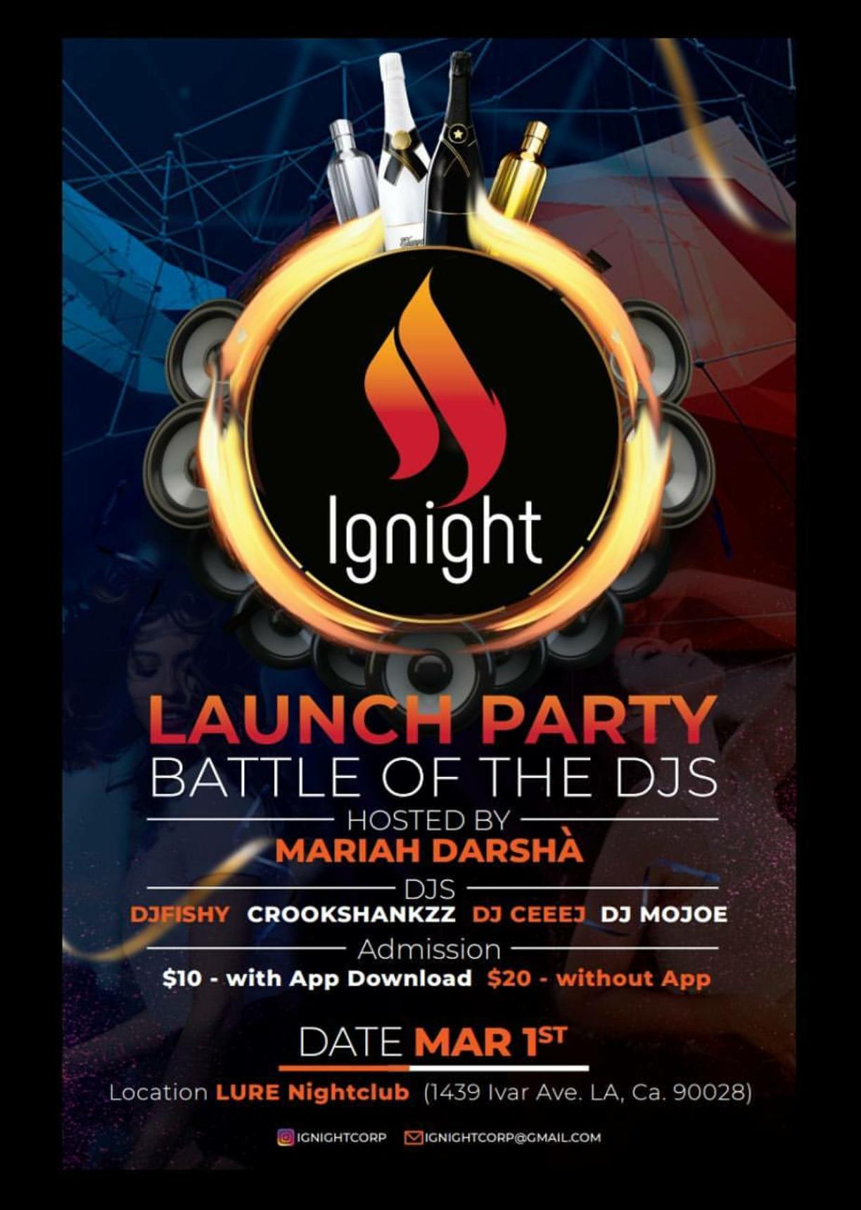 Lure Nightclub Flyer