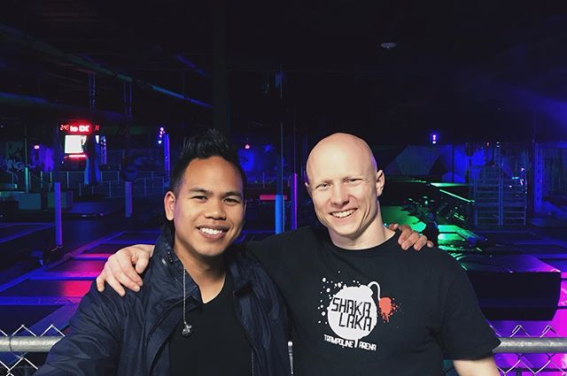 DJ Mojoe at the Dojo! 😜🎉Had the pleasure spinning some beats for @Kevin_the_bull and their Lock-In party at @dojoboom! Thanks for having me! 🙌🎼🎧 | March 29, 2019 #djmojoe #gymparty #fitnessparty #americanninjawarrior #ninjawarrior