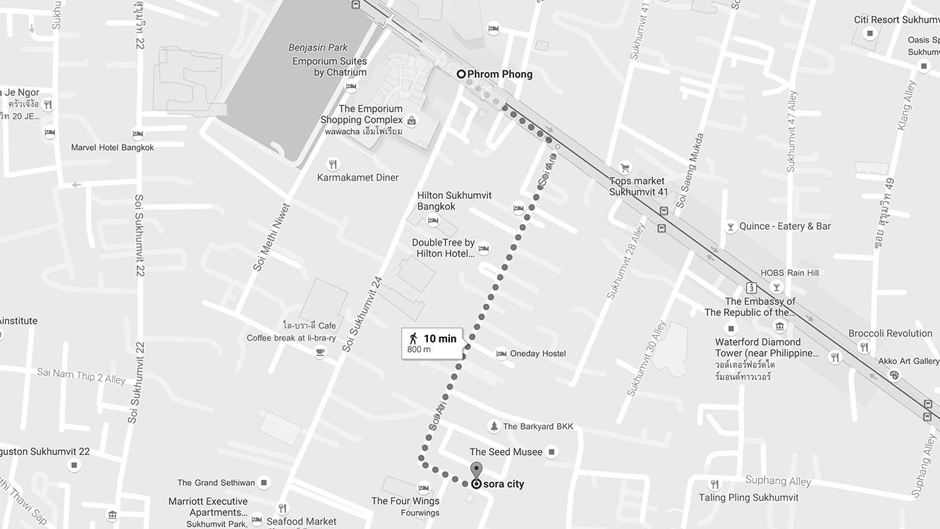 Giờ mở cửa: 9:00 - 18:00 (chủ nhật đến 20:00) Địa chỉ: 61/52 Sukhumvit soi 26, Bangkok.