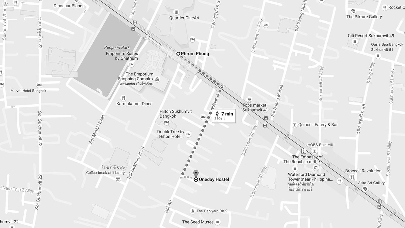 Địa chỉ: 51 Sukhumvit 26, Bangkok. Giá: 500baht/người/đêm cho giường tầng, từ 1400baht/đêm cho phòng đôi.