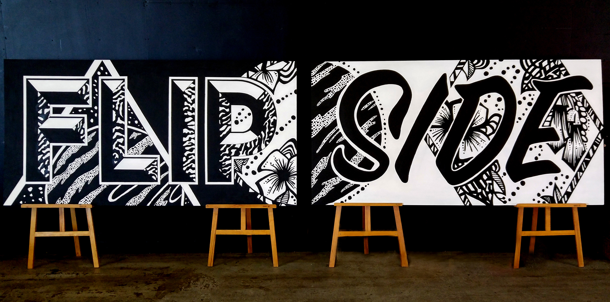 Kate Hursthouse Mural // Flip Side // TEDx Auckland, New Zealand