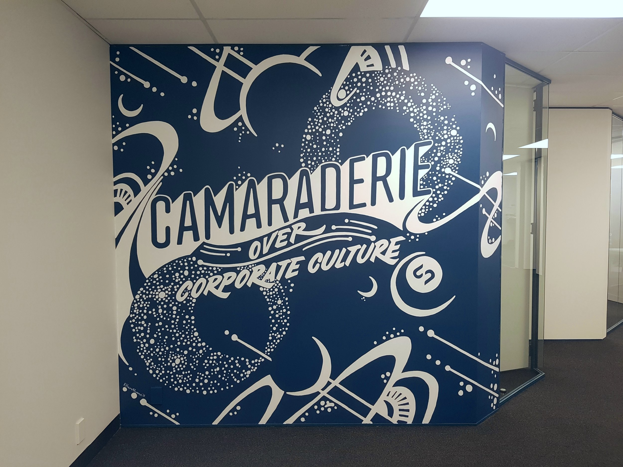 Kate Hursthouse Mural // Silver Stripe Office // New Zealand