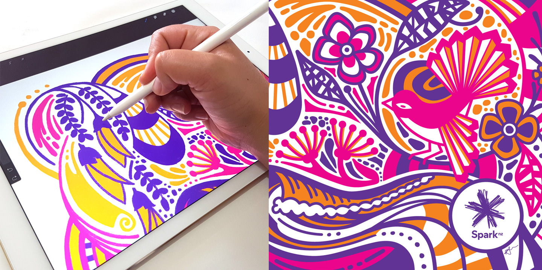 KateHursthouse_Spark NZ Modem sketch