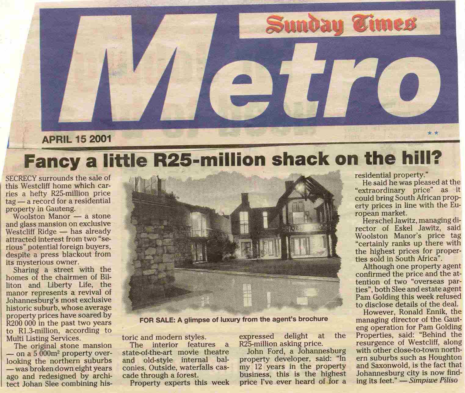 Sunday Times.2001.April 15.Fancy A Little R25 Mil Shack On The Hill.jpg