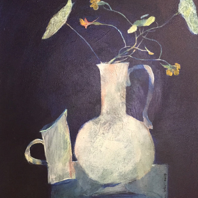 Johann-Painting-HelloSpring06-Kappertjis in Oupa se Pot.jpg