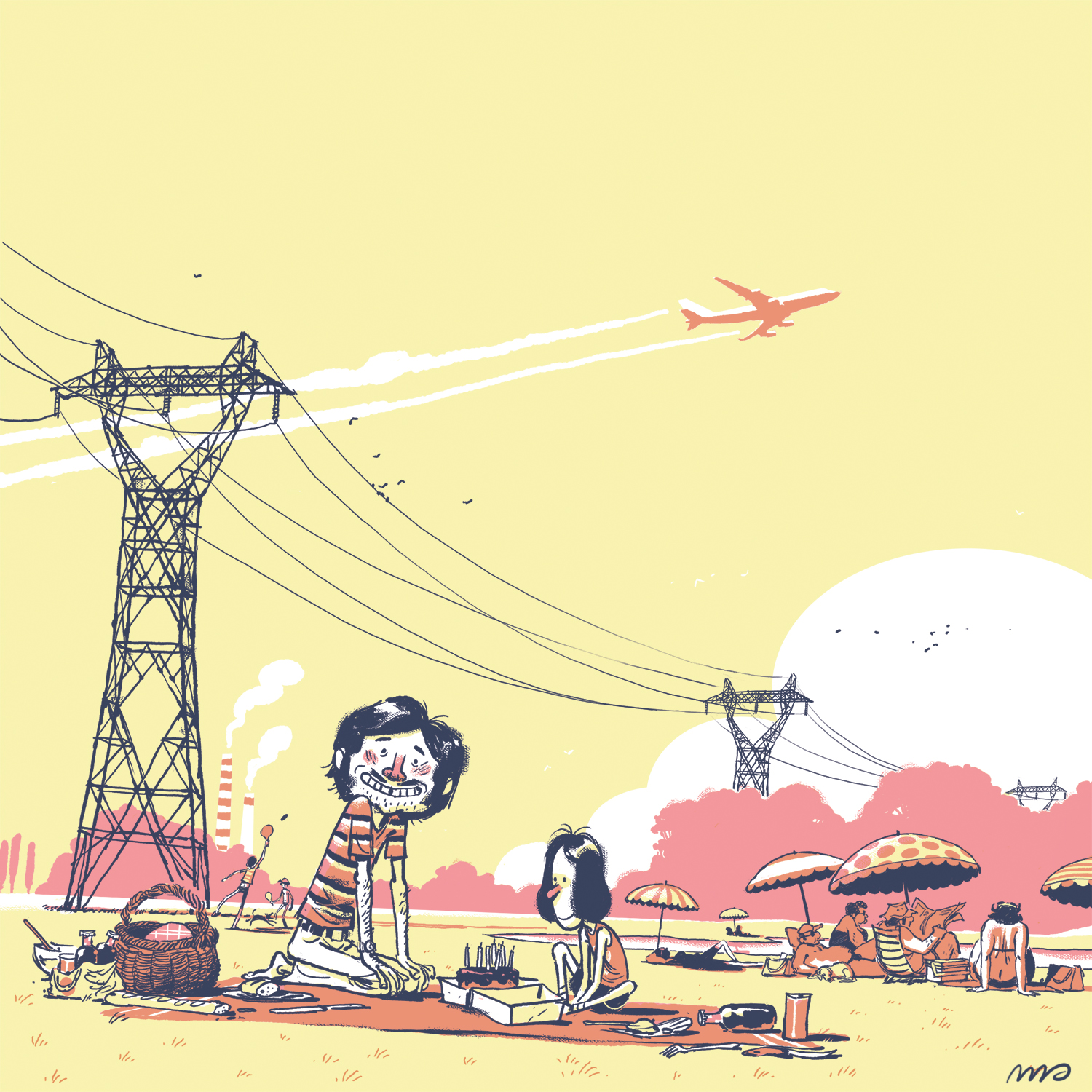 """Illustration for a project organized by  Benjamin Adam  around his graphic novel """"Lartigues & Prévert"""". 2013."""