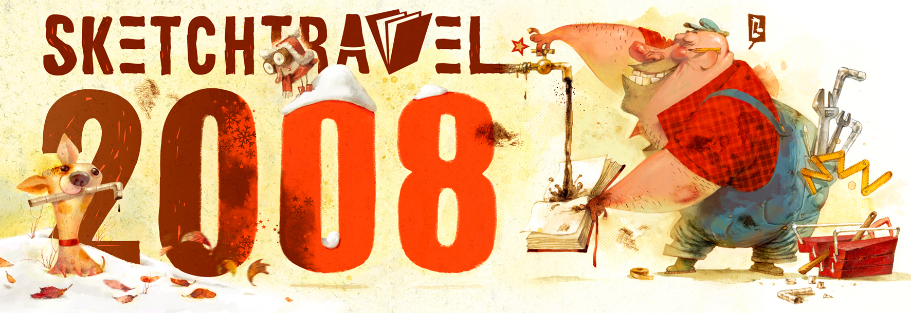 Sketchtravel project's 2008 New Year card