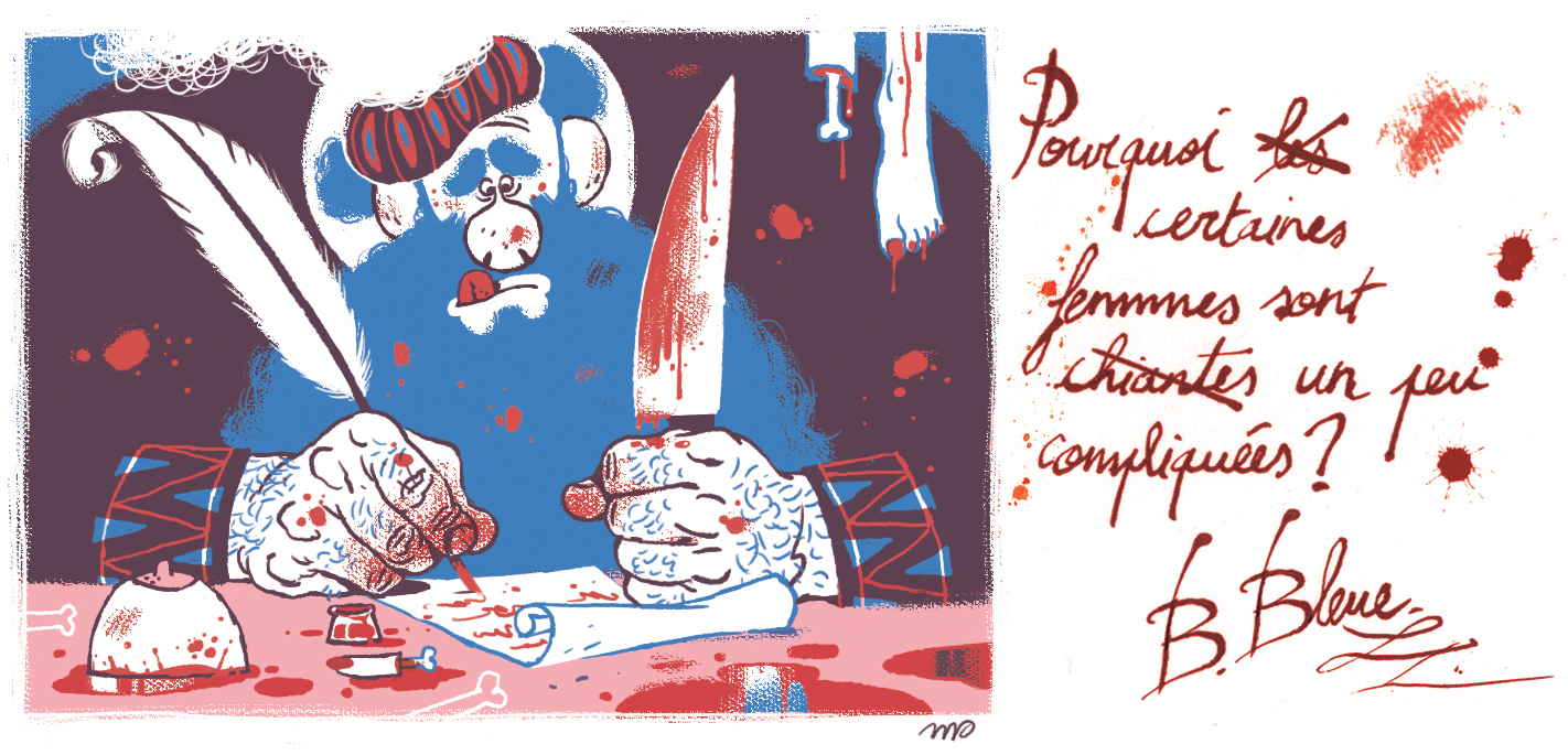 """Illustration for the second book of """"Tu mourras moins bête"""",by the amazing  Marion Montaigne . 2012."""