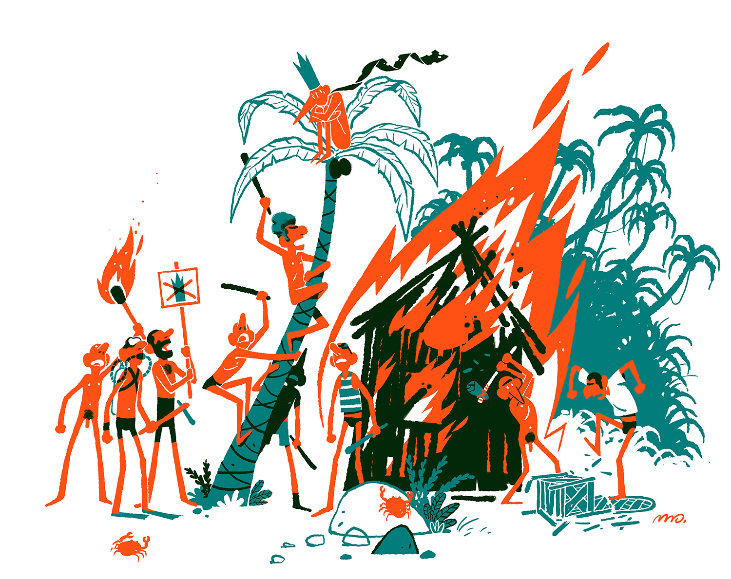 """Illustrations for the exhibition """"Fumetti"""" organised by  Atelier Radar  in France. 2012."""
