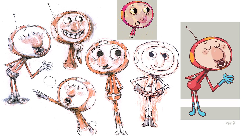 Preliminary sketches.