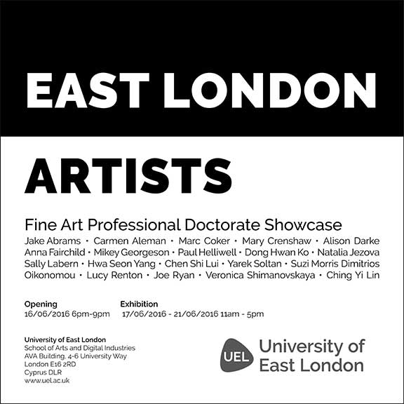 EAST LONDON ARTISTS: AVA Gallery - June 2016