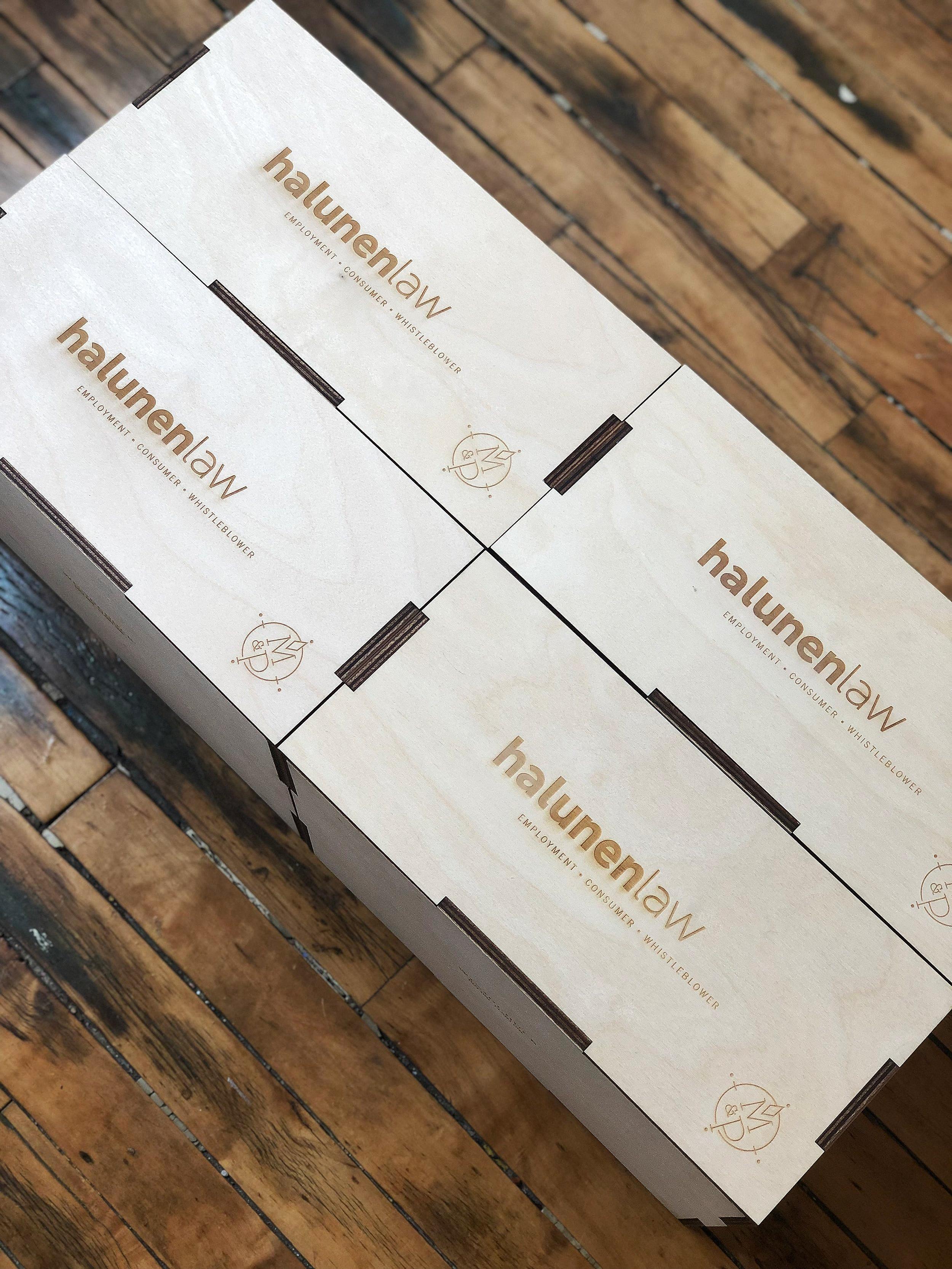 halunen+branded+crate