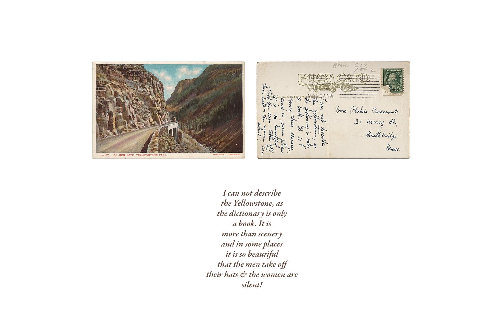 Vintage Haynes Postcard, Golden Gate Canyon