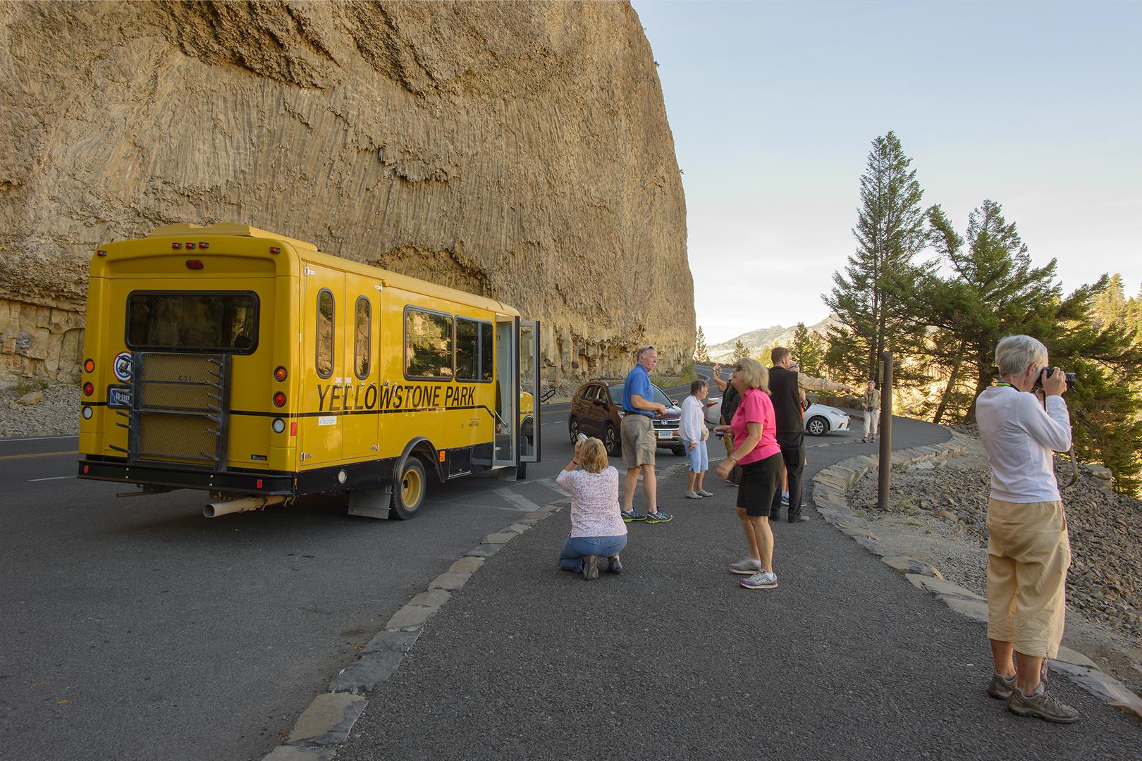 Visitors, Overhanging Cliff
