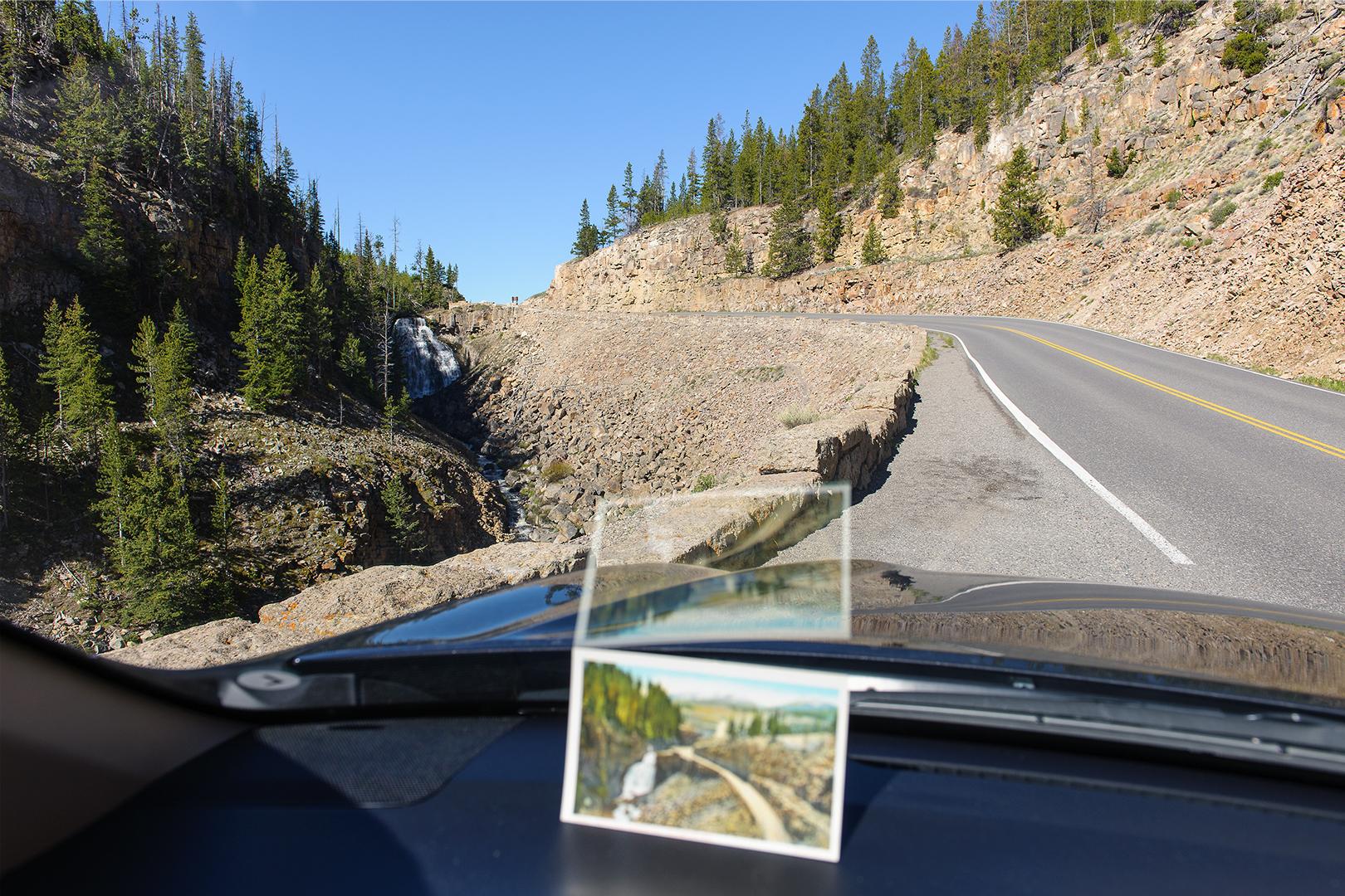 Vintage Haynes Postcard, Rustic Falls