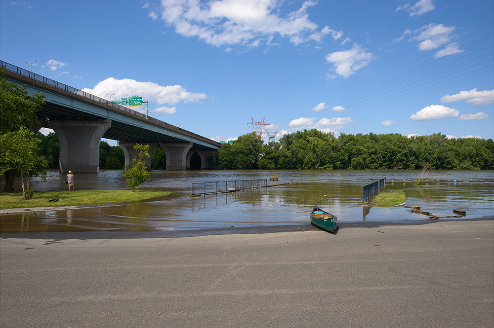 Fourth of July Flood, Charter Oak Landing, Hartford, Conn.