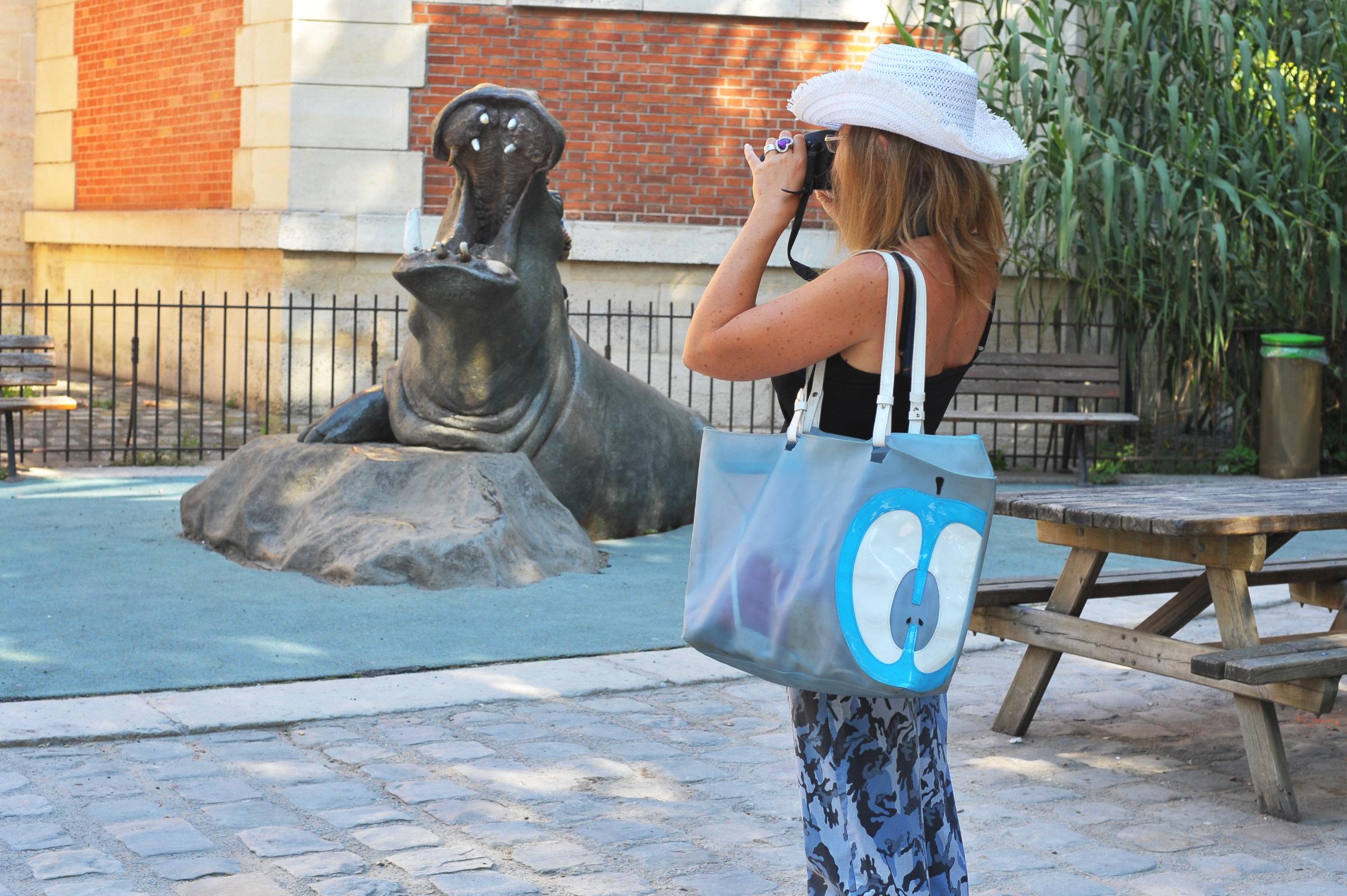 camo pants photographing walrus statue.jpg