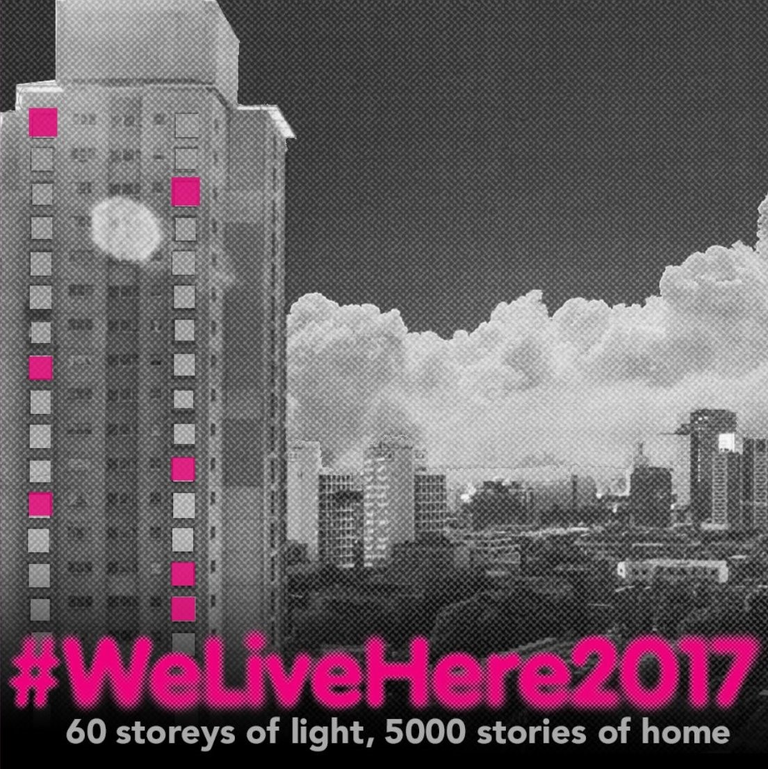 City of Sydney#WeLiveHere201760 storeys of light, 5000 stories of home - If you have walked through Redfern or Waterloo lately, you might have noticed colourful lights appearing in the windows of Matavai and Turanga towers. It's part of #WeLiveHere2017: a community led art installation that aims to generate discussion about the people affected by urban renewal projects.The project transforms the towers into a beacon to the community, powered by the people themselves. more
