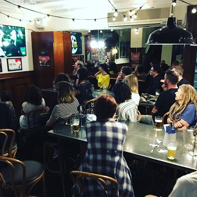 Solid turn out at The Tudor Hotel in Redfern last night. If any local venues want to screen the documentary about Waterloo's public housing activism in the shape of community art, just give us a shout.