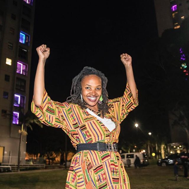 Speak up, reach out, where's the leaders? Step up, no rulers to feed us The times we are in.  It's critical to tell our own stories.  One hand in the air is deeper than respect.  Let's do it for the fallen ones, they know we don't forget. ~ Kween G 📷 at #welivehere2017 launch