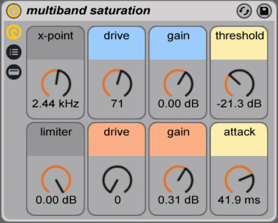 multiband saturation ableton live exciter