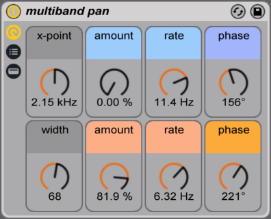 multiband pan ableton live