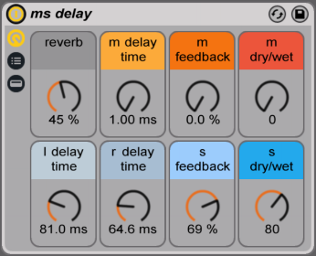 mid side delay ableton rack
